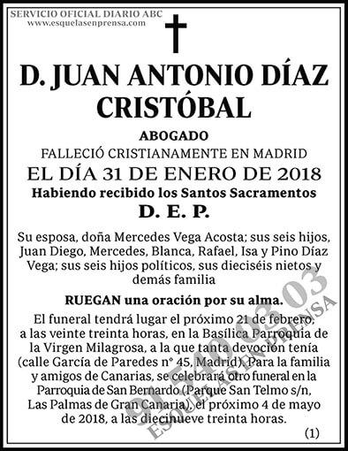 Juan Antonio Díaz Cristóbal